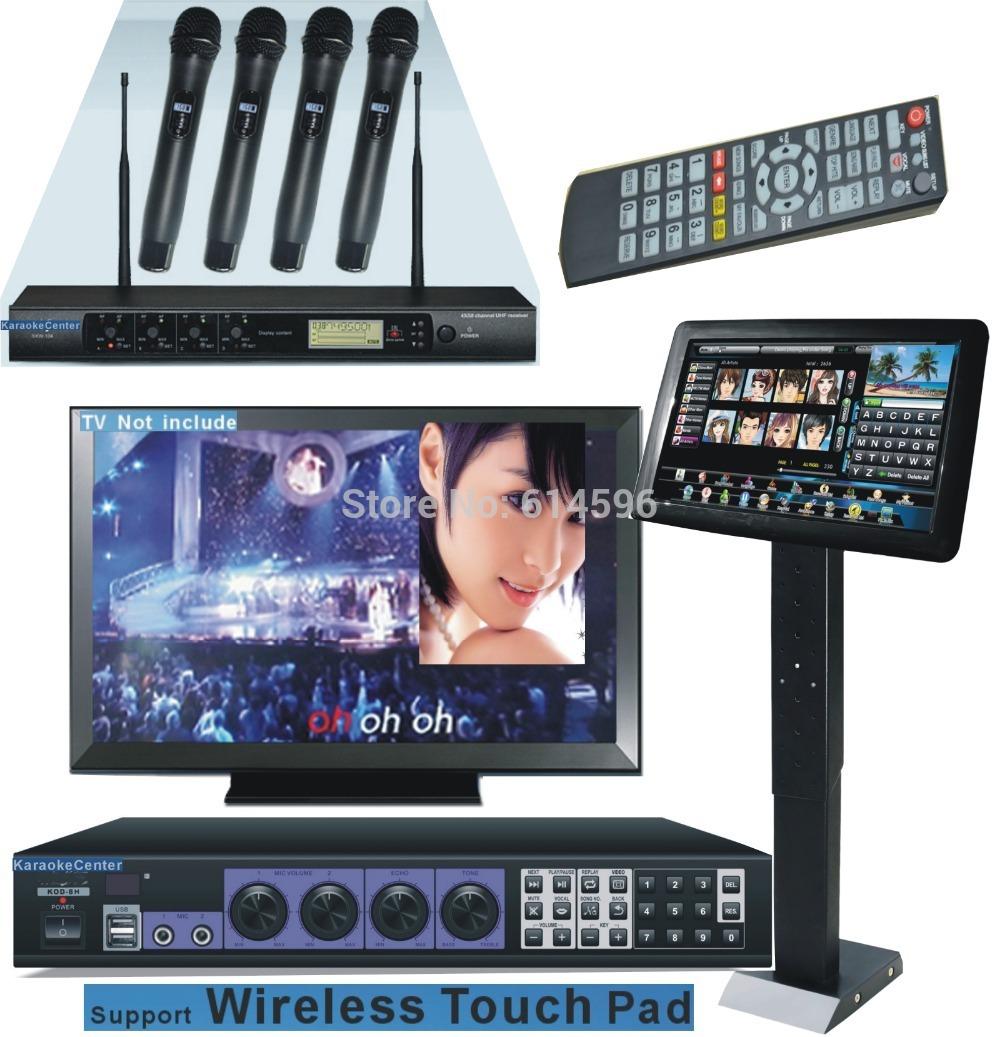"Karaoke Jukebox HDMI Karaoke Machine 3TB HDD System + 19""Touch Screen +4 UHF wireless cordless microphones, support wireless PAD(China (Mainland))"