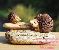 European garden ornaments,zakka groceries creative home decoration crafts,resin animal hedgehog,free shipping