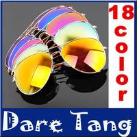 18 color fashion supper star Polarized lenses sunglasses UV protection optical Aviator sun glasses men & women oculos de sol 051