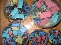 Colored binder clips folder bill clip  folder purse dovetail iron wholesale