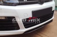 Volkswagen VW Golf 6 R20 REVOZPORT Style 3-Pieces Carbon Fiber Front Bumper Lip Front Spoiler (Only Fits: R20)