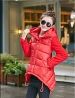 2014 Winter New In Women's Short Design Five Color For Choose Cotton-padded Coat Female's Chinese Red Jacket