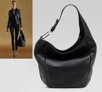 Classic Black Famous Brand Designer Bag Women Shoulder Tote Bag High Quality Cowhide Handbag 100%Genuine Leather Vintage Big Bag
