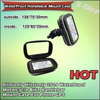 "X-SHOP 2014 WaterProof Motorcycle Bike Handlebar Mount Case For Phone GPS 4.3"" 12.2 X 6.4 X 2cm"
