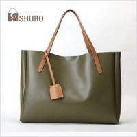 SHUBO European American Style Brand Bags 2014 Vintage Fashion Genuine Leather Cowhide Women Shoulder Bag Portable Tote Bag SH067