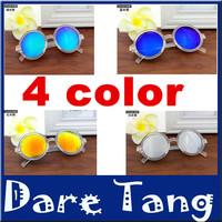 New 2014 Retro Round Lens Coating Sunglasses Women Brand Designer Vintage Sun Glasses Men Cycling Eyewear Oculos De Sol 053