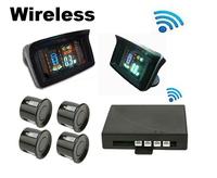 Wireless Car Parking Sensors Numeral and VFD & HUD Display Rear Bumper 4 Sensors Reversing Assist Aid System