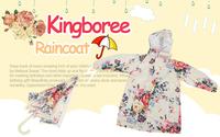 Korea style kingboree waterproof polyester girls raincoat