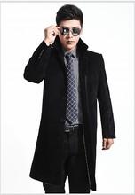 Men's windbreaker jacket men's winter coat men's woolen coat woolen long coat Slim middle-aged male fashion(China (Mainland))