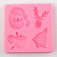 Silicone Cookie Mould Christmas Fondant Cake Decorating Tools Sugarcraft DIY Mould