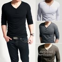 Brand New Fashion 2014 T Shirt Men Camisetas Masculinas 4 Color Long Sleeve Sport Tshirt Men's Cotton Clothing Casual Shirt