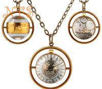 Fashion crystal ball mechanical pocket watch, fisheye vintage pocket watch, fashion mechanical pocket watch necklace