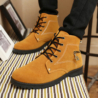 Free shipping  2014 Autumn and winter new Martin boots fashion Restoring ancient ways men High for casual shoes men's shoes