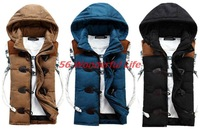 New Fashion autumn winter vest women Hooded vest Slim Plus Velvet Vest Thermal Down Cotton With A Hood Vest