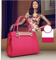 famous brands Women Luxurious Crocodile Patent Handbag,Ladies Top Quality Leather Pattern Shoulder messenger Bag Tote Rose