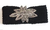 Free shipping  Beads  Flower Handmade headband Knit Headwrap crochet Headbands headwear