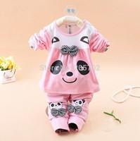 Spring Suits cute baby panda princess suit piece suit