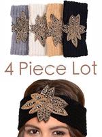 Beads  Flower Handmade headband Knit Headwrap crochet Headbands headwear