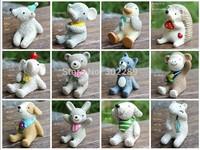 12pcs/set Japan Zakka Resin Healing Series Home Decoration Cute Resin Animal Ornaments Mini Creative Resin Craft