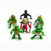 Free shipping New 6PCS Teenage Mutant Ninja Turtles TMNT Action Figures Toy Set 4.8CM