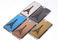 La Tour Eiffel Luxury Quality plated metal hard back cover case for IPHONE 6 IPHONE6 4.7 inch phone shell protective sleeve