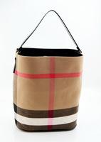 2014 new handbag plaid canvas messenger bag shoulder bag handbag bucket bag