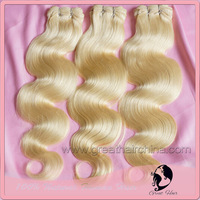 "Slavic Real Hair Blonde Body Wave Natural Humano Hair Extension, 16""-26"" 613# Real Hair Weaving 1 Piece/Lot, Free Shipping"