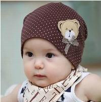 Free Shipping 1 Piece New Design Lovely Bear Cartoon Child Cap Baby Hat