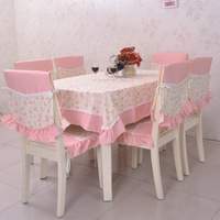 Pastoral fabric tablecloth dining chair cushion chair cushion chair sets + chair by true feelings