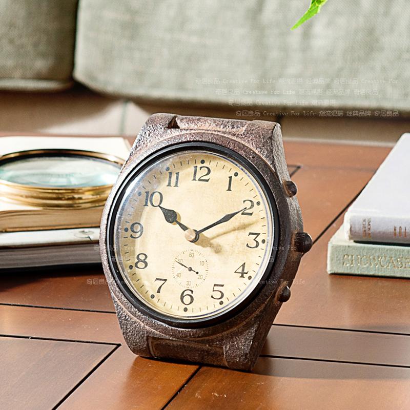 U.S. home decorations decorative resin ornaments Monty desk clock retro watches(China (Mainland))