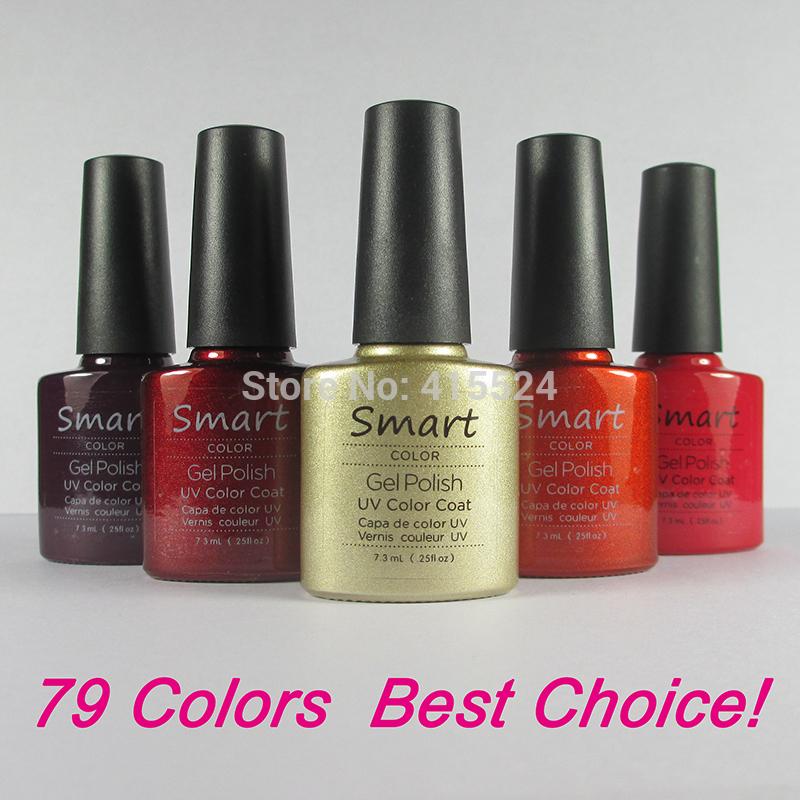 Free shipping 100% Brand New Shellac soak off UV Nail Gel Polish 73Colors Available You Choose 12pcs/lot(China (Mainland))