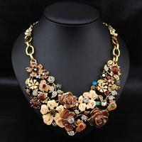 Wholesale Aliexpress Brand Fashion Jewelry Vintage Women Costume  Accessories Flower statement Choker  necklace