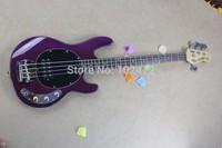 music man stingray Mbass four string bass purple