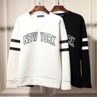 Designer sweatshirts men hip hop NEW YORK print hoodies v neck oversized neoprene structured sweatshirt pullover Nora10598