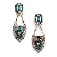 2014 New fashion women statement  green mix blue stud Earrings for women fashion earring Factory Price wholesale women gift