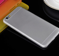 Ultra Thin Slim 0.3mm Cover Matte Frosted Transparent Soft PP Phone Cases Skin For iPhone 6 Plus 5.5 inch 1000pcs/lot