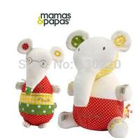 Soft Toys Millie British MaMas&papas Smoothing Sounding Baby Toys Mouse/Elephant Confort Stuffed Doll 2pcs/lot Free shipping