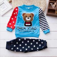 Winnie infants and young children clothing cotton baby suit autumn paragraph