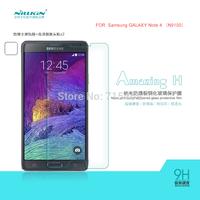 Free ship 5pcs NILLKIN Amazing H & H+ Nanometer Anti-Explosion Glass Screen Protectors for Samsung GALAXY Note 4 N9100 case