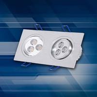 Double double lamp ceiling lamp LED LED full led square ceiling lamp three day Lantern
