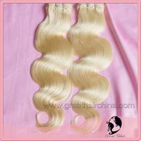 "100% Slavic Blonde Body Wave Real Natural Hair Extension, 16""-26"" 613# Natural Hair Weaving 1 Piece/Lot, Free Shipping"