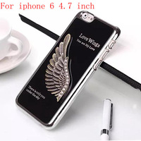 """2014 New For iphone 6 4.7"""" inch Black Luxury Aluminum wings Design Hard Case Cover Lily's Shop"""