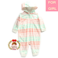 2014 New Carter Original Baby Girl 1-piece Microfleece Non-slip Jumpsuit Romper Pajamas Sleepwear Playing Clothing Cake, 6M