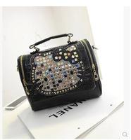 The new KT cat rhinestone shoulder bag Mobile Messenger bag handbag B1481