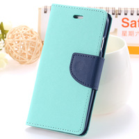 New Arrival!!! Leather Case for iPhone 6 4.7 inches with Wallet Card Slots Stand Candy Color Case for iPhone 6 RCD04247