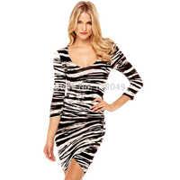 Casual Dress Feminina Print Vestido O-Neck A-Line Above Knee Mini Slim Three Quarter Pleated Dress Women Clothing 2014New Autumn