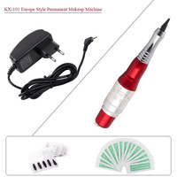 New KX-101 Top Professional Permanent Makeup Eyebrow Lips Tattoo Machine Kit Needles Power Supply Free Shipping