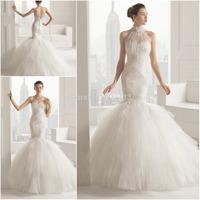 CY4007 White 2015 Boutique Lace Mermaid Wedding Dresses Vestidos de Noiva Tulle with Jacket