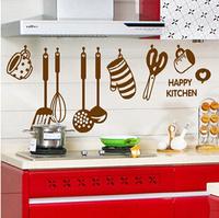 Tea kettle Waterproof Foil Sticker Oil Proof Restaurant Kitchen Wall Paper Decal Decoration Free Shipping