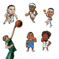 Nine nine wall stick boys boys' basketball bedroom characters stickers 90323  dunk Q version